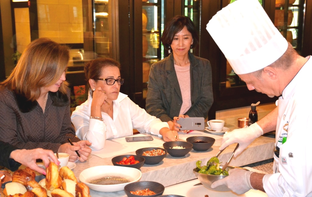 Diplomatic Ladies Learn to Cook Italian from the Best