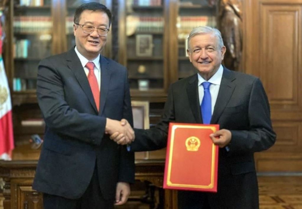AMLO Receives Credentials from Four NewEnvoys