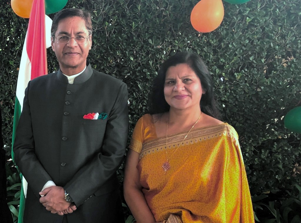 Indian Envoy Marks 70th Annivesary of Nation